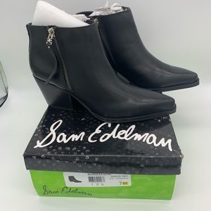 Same Edelman Walden Leather Ankle Boots Size 7 NEW